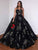 Sweetheart Ball Gown Prom Dress with Sequin Sleeveless Black Party Dress DM112