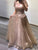 Beading Tulle A Line Prom Dress Custom Evening Dress With Sleeve DM117