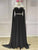 Black Chiffon A Line Prom Dress High Neck Custom Evening Dress DM131
