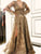 Lace Long Sleeve V Neck Prom Dress Vintage Custom Evening Dress DM141