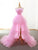 Custom Made High Low Prom Dresses Vestido De Festa Pink Formal Gowns Ballkleider DM146