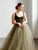 Velvet Tank Top Prom Dress Ball Gown Tulle Cheap Evening Dress DM151