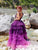 Purple Tulle V-neckline Prom Dress Vintage Ombre Formal Dress DM152