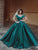 Chic Ball Gown Satin Prom Dress Off The Shoulder Evening Dress DM153