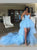 Sweetheart Light-Blue Prom Dress Asymmetrical Tulle Cocktail Dress DM154