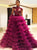 Ball Gown Tulle Prom Dress Vintage High Neck  Evening Dress DM155