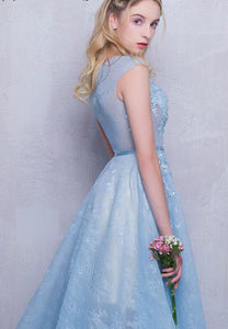 A-line Scoop Floor-length Sleeveless Tulle Prom Dress/Evening Dress # JKL262
