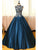 Ball Gown High Neck Floor-length Sleeveless Elastic Woven Satin Prom Dress/Evening Dress # JKL280
