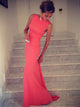 Chic Long Prom Dress Simple Modest Elegant Tight Cheap Prom Dress #JX110