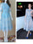 light sky blue prom dresses, A-line Scoop Ankle-length Tulle  Homecoming Dress Short Prom Dress MK023