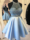 A-line prom dress, Beading Homecoming Dress Short Prom Dress Evening Dress MK0514