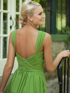 short prom dresses, A-line Straps Knee-length Chiffon Homedress/Short Prom #MK079 - DemiDress.com