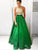 hunter prom dresses, A-line Halter Floor-length Satin Prom Dress Evening Dress MK282