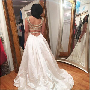 2017 Long Prom Dress, A-line Beading Prom Dress Evening Dress MK526 - DemiDress.com