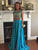 Two Pieces Prom Dress, A-line Short Sleeve Long Prom Dress/Evening Dress MK581