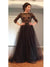 Long Sleeve Prom Dress Strapless A-line Prom Dress/Evening Dress MK602