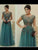 A-line Scoop Floor-length Short Tulle Prom Dress/Evening Dress # ON033