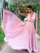 A-line Scoop Floor-length Sleeveless Chiffon Prom Dress/Evening Dress # ON090
