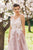 Chic Pink Prom Dress Lace Tulle Long Prom Dress #VB2400