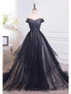 Charming A-line Off-the-shoulder Tulle Prom Dress Evening Drsess SKA045