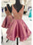 Charming A-line Straps Organza Chic Homecoming Dress Short Prom Drsess SKA087
