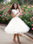 Two Pieces A-line Homecoming Dress Scoop Ivory Short Prom Dress SKA108