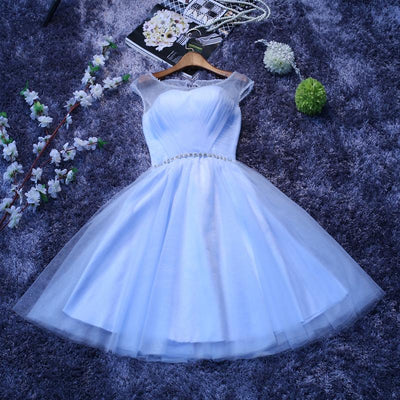 A-line Homecoming Dress Scoop Short/Mini Prom Drsess Juniors Homecoming Dresses SKY004