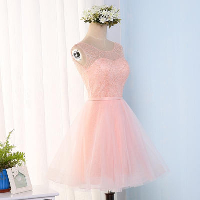 A-line Homecoming Dress Scoop Short/Mini Prom Drsess Juniors Homecoming Dresses SKY018