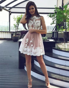 2017 A-line Prom Dress Juniors Short/Mini Homecoming Dress SKY074 - DemiDress.com