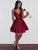 Burgundy Homecoming Dress A-line Short Prom Drsess Juniors Homecoming Dresses SKY129