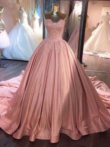 A-line Prom Dress Sweetheart Prom Dresses/Evening Dress With Lace SKY155