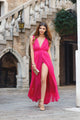 A-line Prom Dress V-Neck Chiffon Long Prom Dresses/Evening Dress SKY164