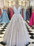 2018 A-line Prom Dress Lace V Neck Cheap Long Prom Drsess SKY180