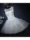 A-line Scoop Tulle Short Prom Dress Juniors Homecoming Dresses SKY298
