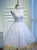 A-line Straps Tulle Short Prom Dress Juniors Homecoming Dresses SKY302