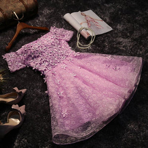 A-line Homecoming Dress Scoop Tulle Juniors Homecoming Dresses SKY327