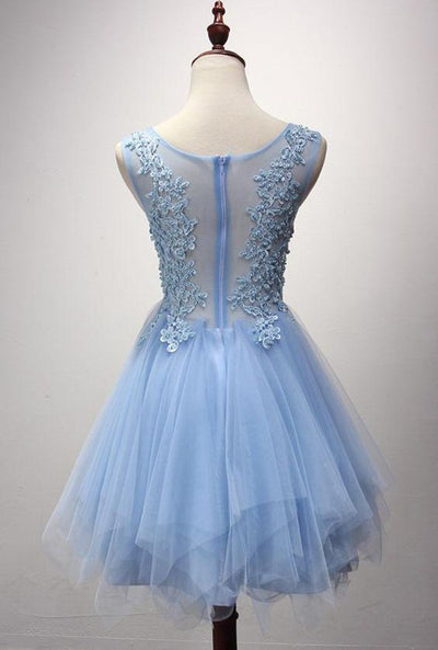Homecoming Dress 2017 Blue Short/Mini Juniors Homecoming Dresses SKY346