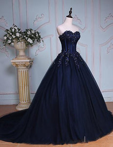 A-line Sweetheart Long Prom Drsess Evening Tulle Party Dresses SKY350