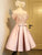 A-line Homecoming Dress Off-the-shoulder Satin Short Party Dresses SKY378