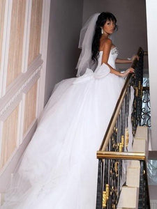 Sweetheart Wedding Dress,Romantic Wedding Dress,White Wedding Dress,Wedding Gowns SKY396