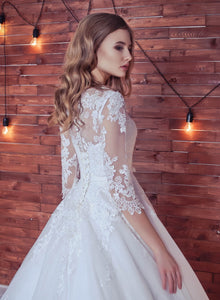 Lace Wedding Dress,Romantic Wedding Dress,White Wedding Dress,Wedding Gowns SKY398