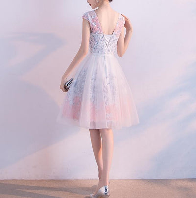2017 A-line Scoop Short Prom Drsess Prom Dress SKY419 - DemiDress.com