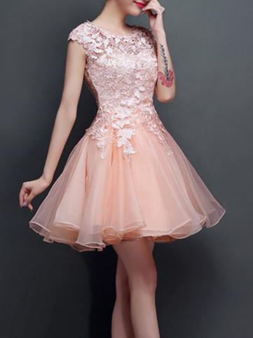 2017 A-line Scoop Short Prom Drsess Prom Dress SKY423