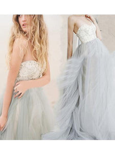 2017 A-line Sweetheart Tulle Prom Dress Evening Gowns SKY425 - DemiDress.com