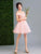 A-line Off-the-shoulder Short Prom Drsess Juniors Homecoming Dresses SKY448
