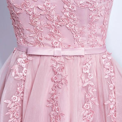 2017 A-line V-neck Short Prom Drsess Homecoming Dress SKY454 - DemiDress.com