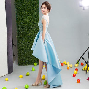 2017 A-line Asymmetrical Homecoming Dress Short Party Dress Cocktail Dresses SKY474 - DemiDress.com