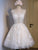 A-line V-neck Short Prom Drsess Juniors Homecoming Dresses SKY484