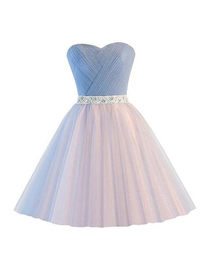 2017 A-line Sweetheart Tulle Prom Drsess Homecoming Dress SKY515 - DemiDress.com