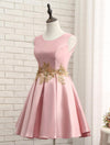 2017 A-line Short Prom Drsess Appliques Homecoming Dresses SKY526 - DemiDress.com